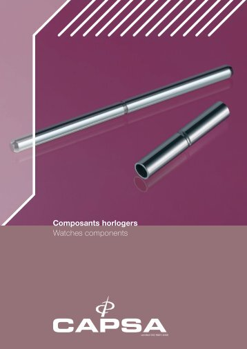 Composants horlogers Watches components
