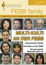 multi-kulti an der febb - Freie Evangelische Bekenntnisschule Bremen