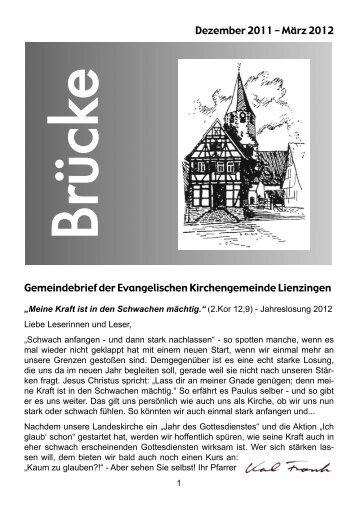 März 2012 - Evangelische Kirchengemeinde Lienzingen