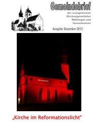 Gemeindebrief Dezember 2012 - Aktuelles aus den ...