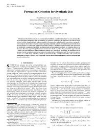 Formation Criterion for Synthetic Jets - Mechanical Engineering