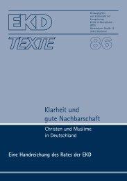Klarheit und gute Nachbarschaft - Evangelische Kirche in Deutschland