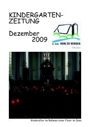 KINDERGARTEN- ZEITUNG Dezember 2009 - Domgemeinde Verden