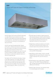 Capture Jet™ Hood with Supply Air and Side-Jet Technology - Halton