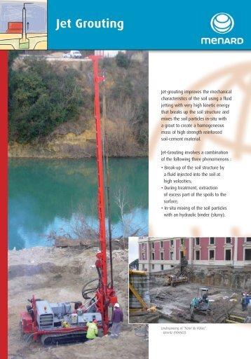 Jet Grouting commercial leaflet - Menard