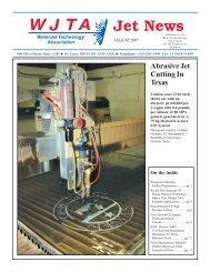 Abrasive Jet Cutting In Texas - Waterjet Technology Association