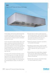 Capture Jet™ Hood with Side-Jet Technology - Halton