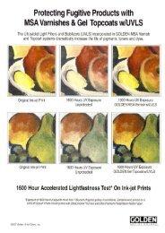 1600 Stunden Lichtechtheitstest von Ink-Jet Drucken - BOITEABRICO