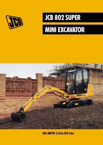 JCB 802 SUPER MINI EXCAVATOR - AP Webb (Plant Hire)