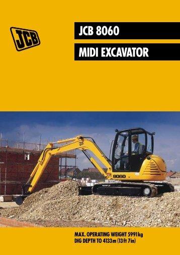 JCB 8060 MIDI EXCAVATOR - Exuma Plant Hire