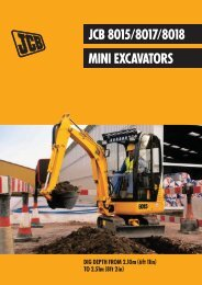 JCB 8015/8017/8018 MINI EXCAVATORS - Brurent