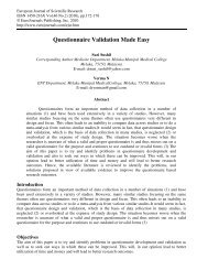 Questionnaire Validation Made Easy - EuroJournals