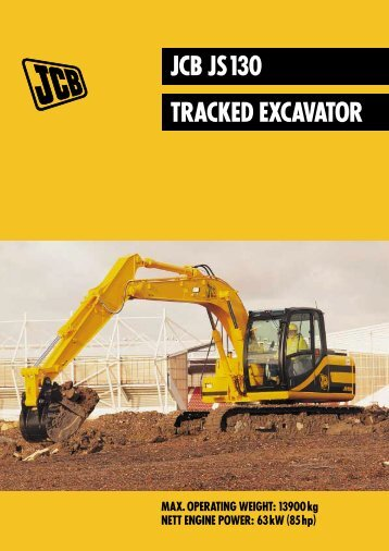 JCB JS 130 TRACKED EXCAVATOR - GB Digger Hire