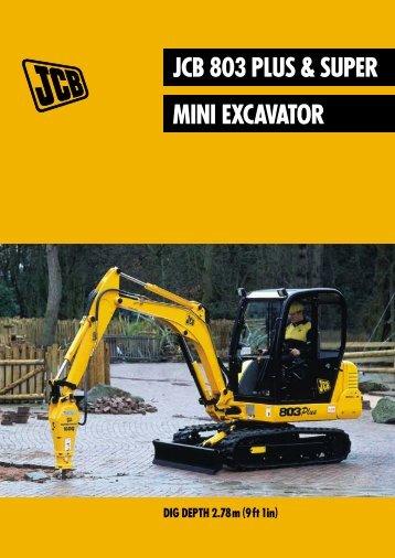 JCB 803 PLUS & SUPER MINI EXCAVATOR - Brurent