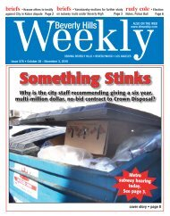Call: (310) - Beverly Hills Weekly