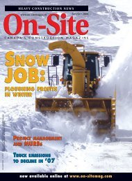 September/October - On-Site Magazine