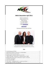 Newsletter April 2011 - 15. April 2011 - Nordrhein-Westfälischer ...