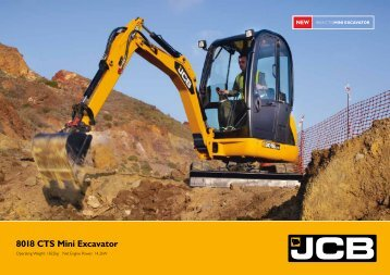 8018 CTS Mini Excavator - GB Digger Hire