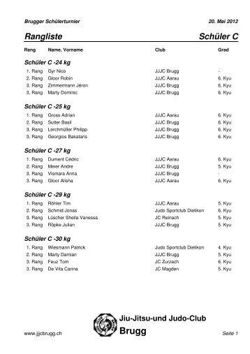 Resultate aller Kategorien 2012 - Judo und Jiu-Jitsu-Club Brugg
