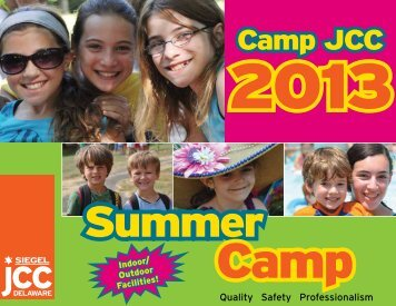 Camps Brochure - Bernard and Ruth Siegel Jewish Community Center
