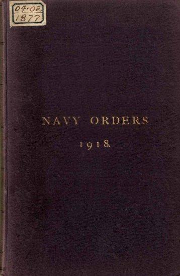 Commonwealth Navy Orders. - Royal Australian Navy