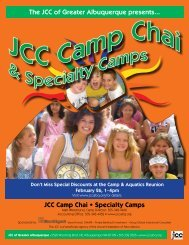 Download 2012 Summer Day Camps Brochure ... - JCC Albuquerque