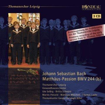 Thomaskantor Georg Christoph Biller - Naxos Music Library