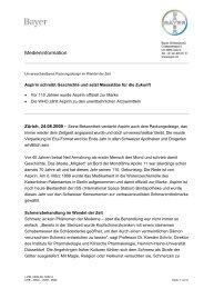 Medieninformation - Bayer