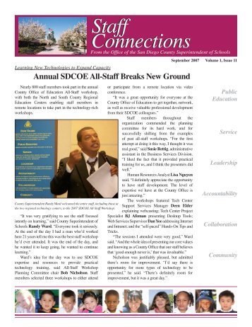 Volume 1, Issue 11 - September 2007 - San Diego County Office of ...