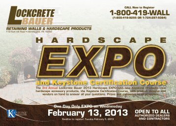 February 13, 2013 - Lockcrete Bauer