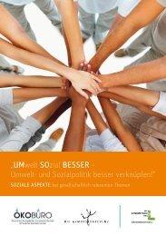 """""""UMwelt SOzial BESSER – Umwelt- und ... - Armutskonferenz"""