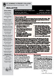 Bulletin 26 October 2011 (2.5mb) - St Dominic's Priory College