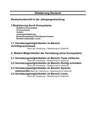 Gliederung Deutsch - Regierung der Oberpfalz