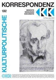 Ausgabe 1302 als PDF zum Download - Kulturportal West Ost