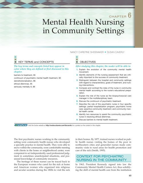 Mental Health Nursing In Community Settings