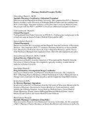 Pharmacy Council of Jamaica List of Preceptors