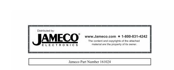 www.Jameco.com 1-800-831-4242 Jameco Part Number 161024
