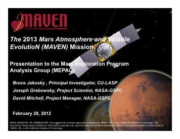 MAVEN - Laboratory for Atmospheric and Space Physics