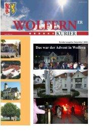 Sonderausgabe Dezember 2008.pmd - Wolfern