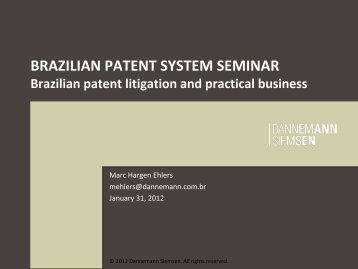 Brazilian patent litigation and practical business - Japan Patent Office