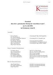 Protokoll über die 1. gemeinsame Sitzung der Ausschüsse 6 und 7 ...