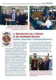 2. Sternturnier am 7. Februar in der Stadthalle Rostock - DSkV