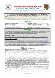 Wanganui Genealogy newsletter (Dec 2011-Jan 2012)