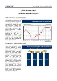 Zahlen, Daten, Fakten Die aktuelle Branchenbilanz 2011 - DEHOGA ...