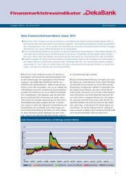 Deka-Finanzmarktstress-Indikator Januar 2013 - DekaBank