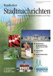 Waidhofner Stadtnachrichten 2. Sonderausgabe 2008 (594 KB)