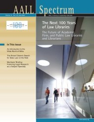 V.10 N.9 (July 2006) issue in - AALL