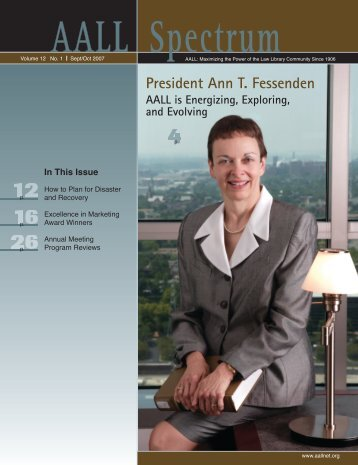 V.12 N.1 (September/October 2007) issue - AALL