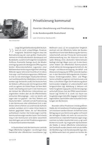 Privatisierung kommunal - Linksreformismus