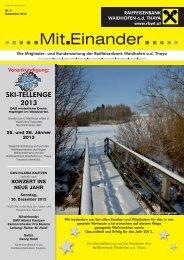Nr. 4 - Dezember 2012 - Raiffeisenbank Waidhofen/Thaya